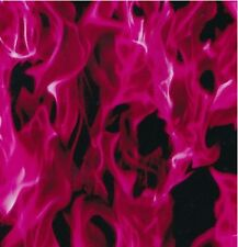 HYDROGRAPHIC FILM WATER TRANSFER PRINTING FILM HYDRO DIP HOT PINK FLAME 1SQ
