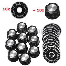 10x Rotary Potentiometer Knob Caps With 10PCS Counting Dial 0 - 100 Scale New US
