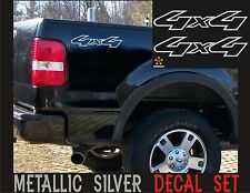 4x4 Truck Bed Decals, Silver (Set) for Ford F-150, Super Duty, and Ranger
