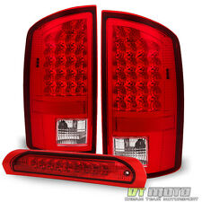 07-08 Dodge Ram 1500/ 07-09 2500 3500 Red Clear LED Tail Lights +LED Brake Lamp
