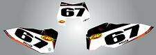 KTM EXC 2008 - 2011 Custom number plates Barbed Style / stickers - decals
