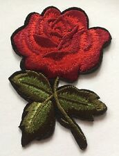 """Beautiful Red Rose Iron On Embroidered Applique Patch (2""""x3"""") **USA SELLER**"""
