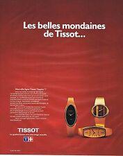 PUBLICITE ADVERTISING 045 1975 TISSOT montres pour femmes