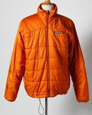 Patagonia Men's Orange Nano Puff Primaloft Quilted Puffer Jacket Size Large L