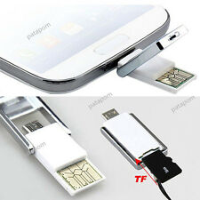 Awesome Micro USB 2.0 OTG Adapter + Micro SD TF Card Reader for PC Samsung New