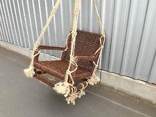 Schaukel Gartenschaukel Rattan Holz Handarbeit neu unbenutzt