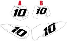 2008-2009-2010 KTM 530EXC Pre-Printed White Backgrounds Black Numbers
