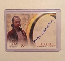 HUGO WEAVING Auto - Lord of the Rings FOTR - Autograph Card - signed