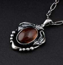 GEORG JENSEN Sterling Silver Pendant Of The Year 2014 with Smokey Quartz. NEW.
