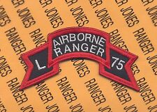 US Army L AIRBORNE RANGER 75 Vietnam LRRP LRP 101st Abn Div scroll patch