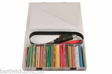 GAS TORCH WITH ASSORTED COLOURS HEAT SHRINK TUBING SET 162 PIECES