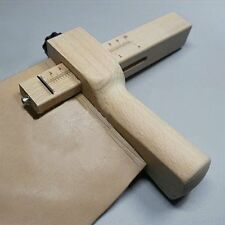Practical Wood Adjustable Strip and Strap Cutter Craft Tool Leather Cutting XP