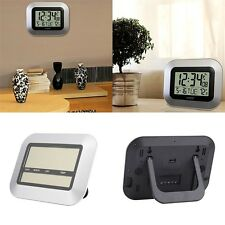 Self Setting Digital Home Office Decor Wall Clock With Indoor Temperature UL