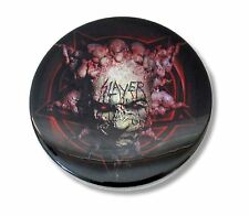 SLAYER CARVED FACE LOGO BLACK CIRCULAR MAGNET NEW NWT METAL BAND MUSIC