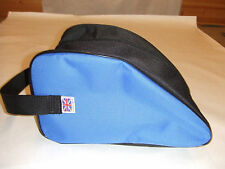 HEAVY DUTY BLUE BOOT BAG WALKING , HIKING, SPORTS, BOOTS, SHOES   Made in UK