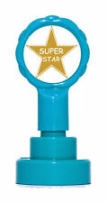 Gold Super Star Self Inking Teacher Reward Rubber Stamp - Exclusive Design