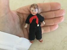 Antique Miniature  Tiny 3.2 inch German Porcelain Boy jointed Doll