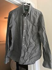 Gitman Vintage Gray Chambray Button Down Shirt Large Slim