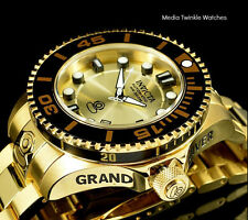 Invicta 47mm GRAND DIVER 2ND Gen II Automatic Gold Dial Solid Bracelet Watch!