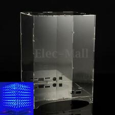 Transparent Acrylic Board Housing For 8x8x8 3D Light Cube MP3 Music Spectrum Kit
