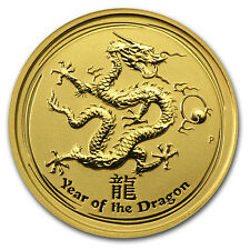 2012 1/10 oz Gold Lunar Year of the Dragon Coin