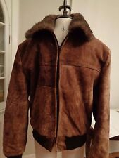 COOPER 100% sheepskin shearling leather rancher jacket men's size 40 Fifth Ave N