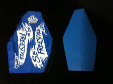 NOS 1980s Blue & White SE RACING FRED BLOOD QUADANGLE FRAME PAD Old School BMX