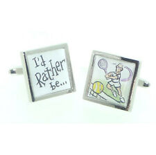 I'd Rather be Playing Tennis Cufflinks X2CC004