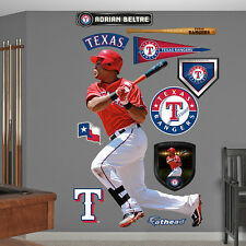 "Adrian Beltre FATHEAD Lifesize 3'1""x5'11"" REAL BIG Rangers Wall Graphics +Extras"