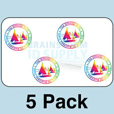 Mark of Business Trust ID Card Hologram Overlays (w/UV) for Teslin/PVC - 5 pack