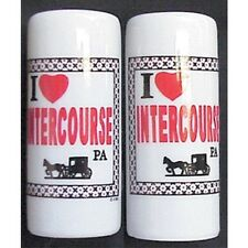 I HEART INTERCOURSE PENNSYLVANIA SALT & PEPPER SHAKERS NEW