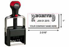 Shiny H6104 Custom Date Stamp RECEIVED & your business name-BLACK INK SU-36159
