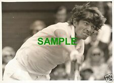 ORIGINAL PRESS PHOTO - WIMBLEDON 1971 FRENCH TENNIS STAR PIERRE BARTHES