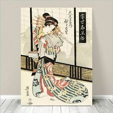 "Beautiful Japanese GEISHA Art ~ CANVAS PRINT 8x10"" Courtisan in Kimono #179"