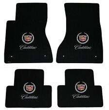 NEW! BLACK FLOOR Mats 2003-2007 Cadillac CTS Crest & Script Double Logo All 4