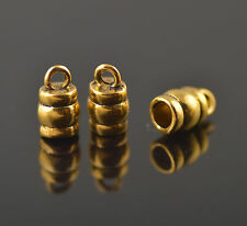 25pcs Golden End Bead Caps Stoppers Fits 3.5mm For Leather Cord Charms Crafts