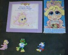Vintage Muppet Babies TOYS, book, AND VHS LOT McDonald's 1986 toys  jim henson