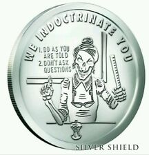 "Pyramid of Power #1 ""We Indoctrinate You"" 1 oz .999 silver SSG BU SHIPPING NOW"