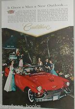 1957 Cadillac ad, Cadillac convertible, color photo