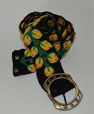 NEW Multicolored Hipster hand made Embroidered Wool Belt Eat Pray love PERU P