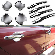 FITFOR 2006-2011 HONDA CIVIC CHROME DOOR HANDLE COVER BOWL CUP TRIM GARNISH 2IN1