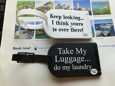 Set of 2 Luggage Tags Funny Message   Cute New