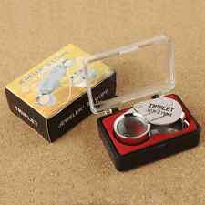 30X 21mm Glass Magnifier Loop Magnifying Glass Jeweler Eye Jewelry Loupe US