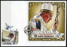 NIGER 2016 80th BIRTH OF ANNIVERSARY OF POPE FRANCIS S/S FIRST DAY COVER