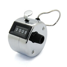 Mechanical Hand Tally Number Counter Click Clicker 4 Digit Counting Manual