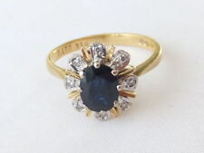 Fine Sapphire and Diamond 18ct gold cluster ring