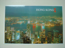 old China HK postcard,night view of victoria harbour,unused