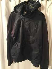 "Never Worn Vintage ""DSL 55"" Brand Men's Black Cotton/Nylon Hoodie Jacket/Size L"