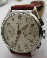 Bulova 13AK chronograph 2 reg. wrist watch valjoux 23 ... diameter 32 mm