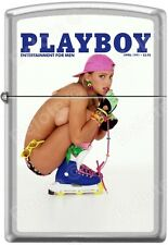 Zippo Playboy April 1991 Cover Satin Chrome Windproof Lighter NEW RARE